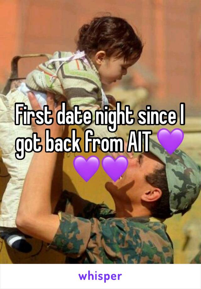 First date night since I got back from AIT 💜💜💜
