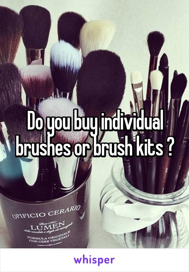 Do you buy individual brushes or brush kits ?