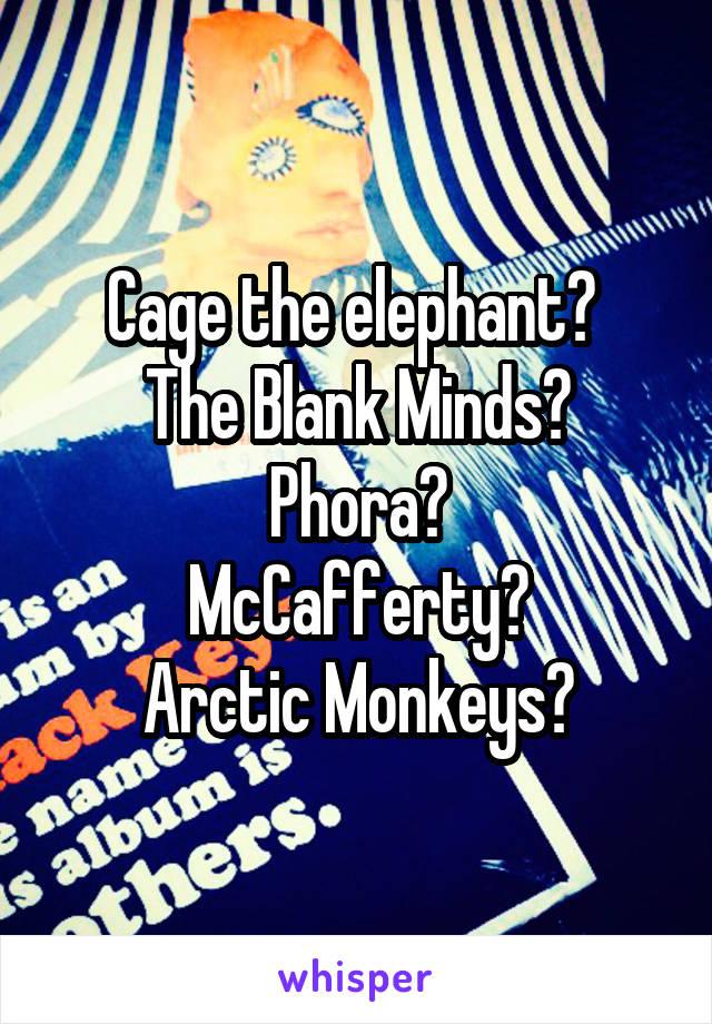 Cage the elephant?  The Blank Minds? Phora? McCafferty? Arctic Monkeys?