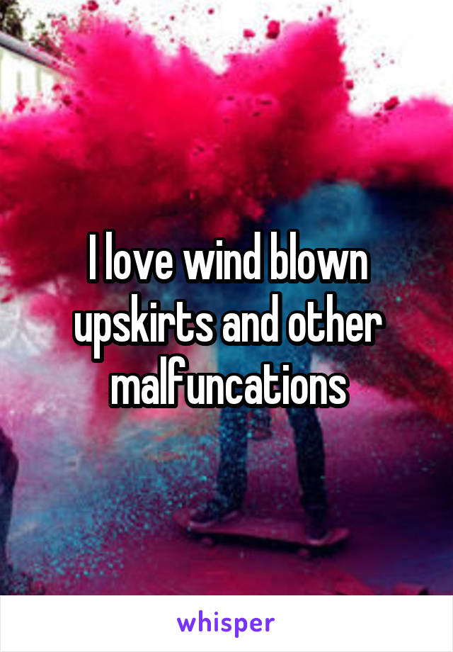 I love wind blown upskirts and other malfuncations