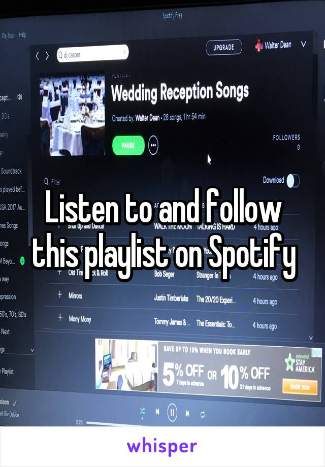 Listen to and follow this playlist on Spotify