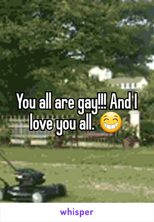 You all are gay!!! And I love you all. 😁