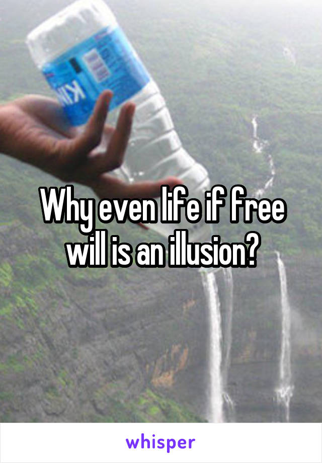 Why even life if free will is an illusion?