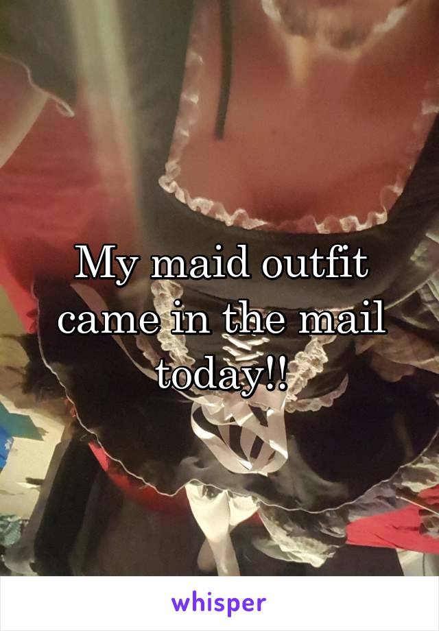 My maid outfit came in the mail today!!