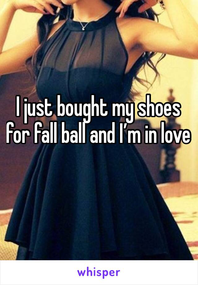 I just bought my shoes for fall ball and I'm in love