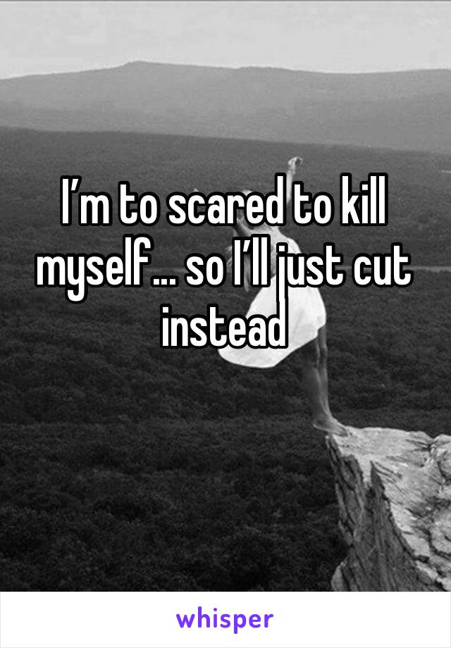 I'm to scared to kill myself... so I'll just cut instead