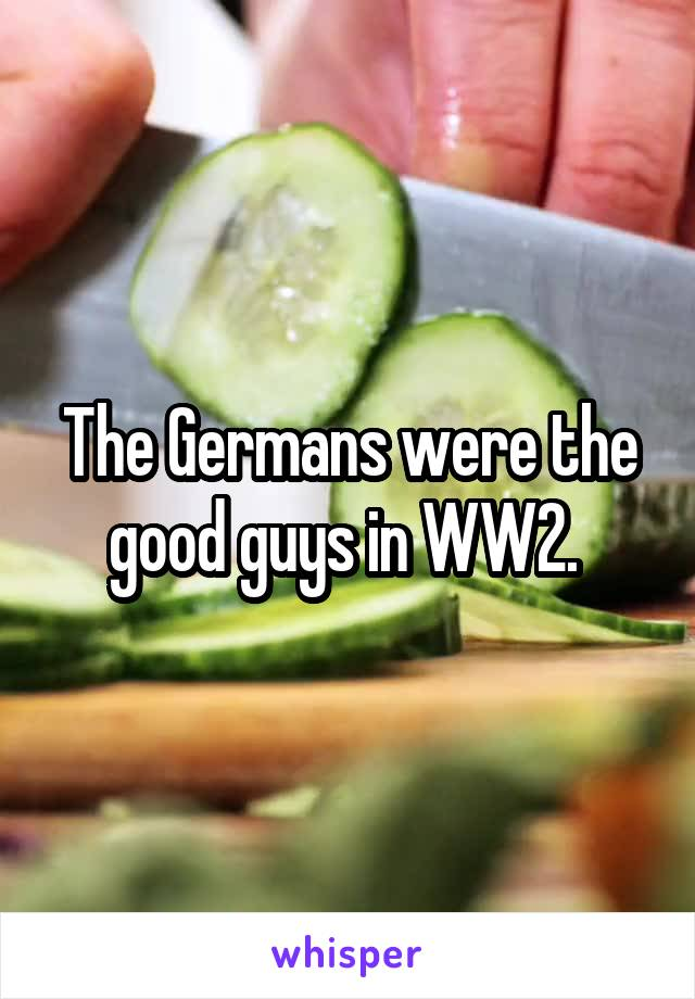 The Germans were the good guys in WW2.