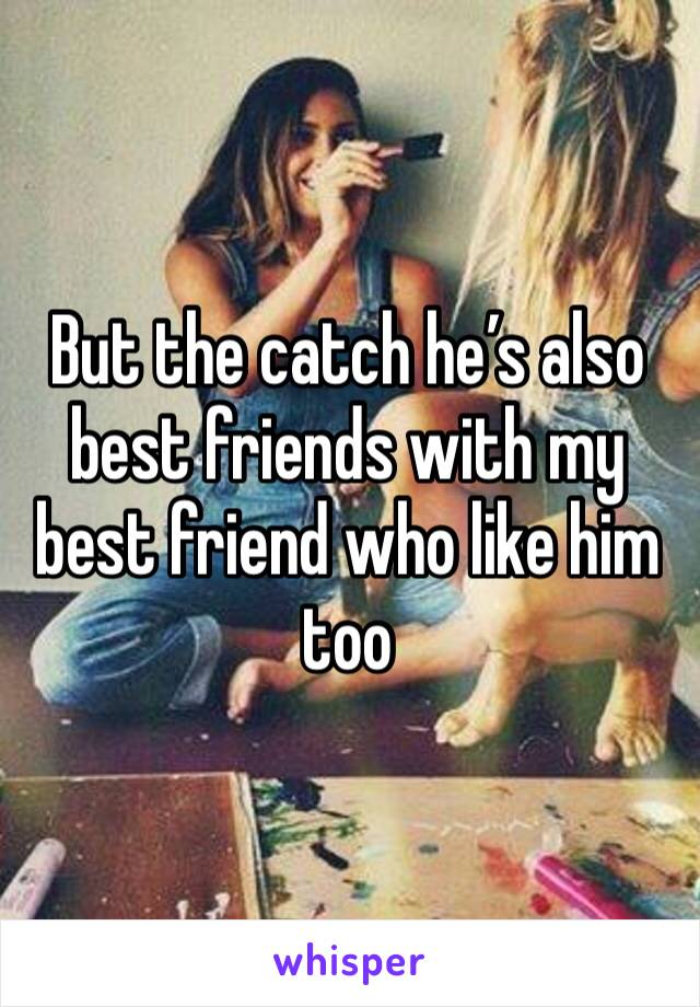 But the catch he's also best friends with my best friend who like him too