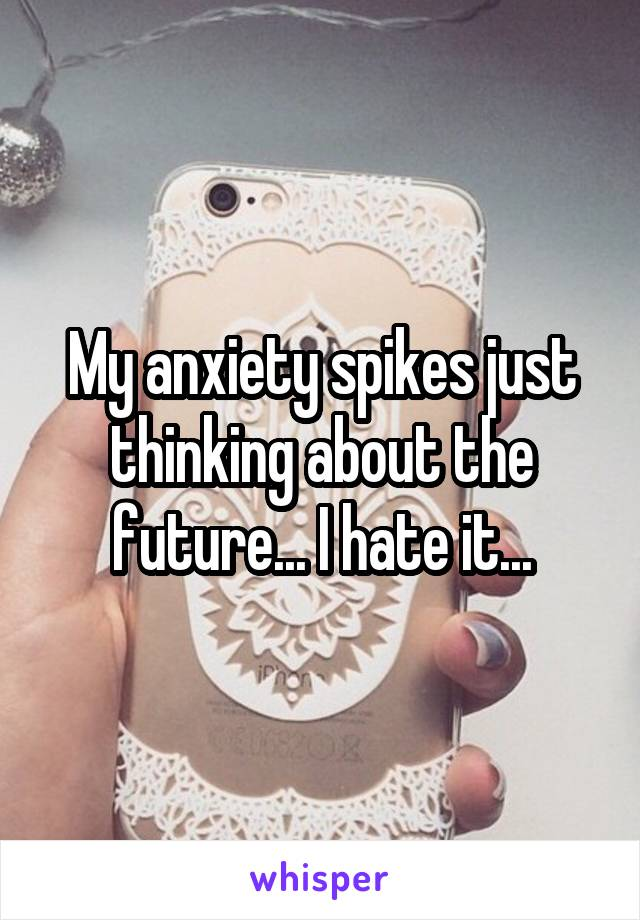 My anxiety spikes just thinking about the future... I hate it...