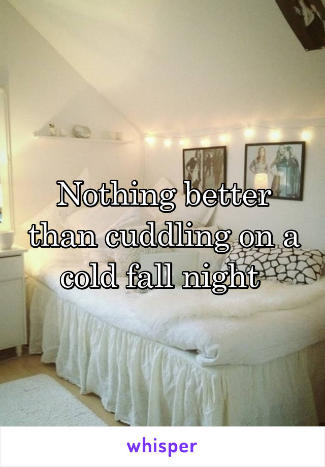 Nothing better than cuddling on a cold fall night