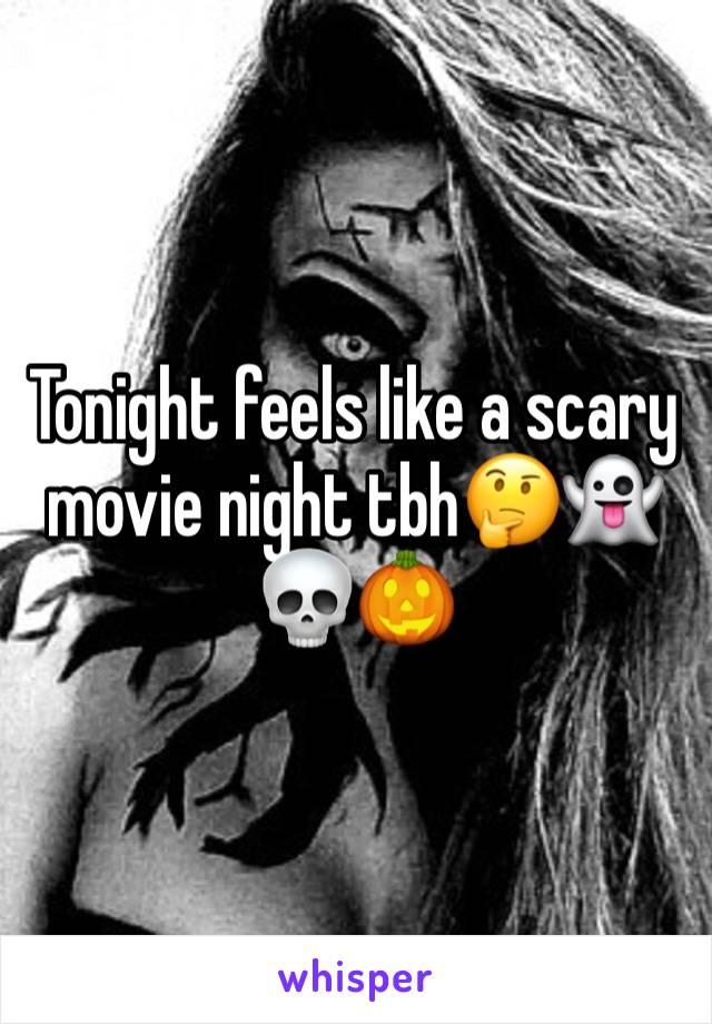 Tonight feels like a scary movie night tbh🤔👻💀🎃