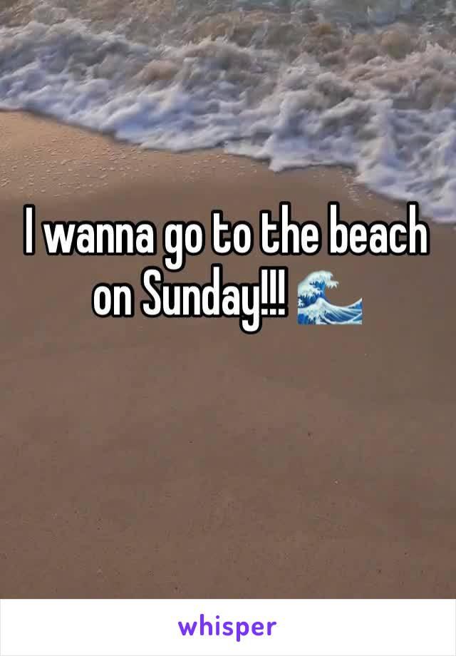 I wanna go to the beach on Sunday!!! 🌊