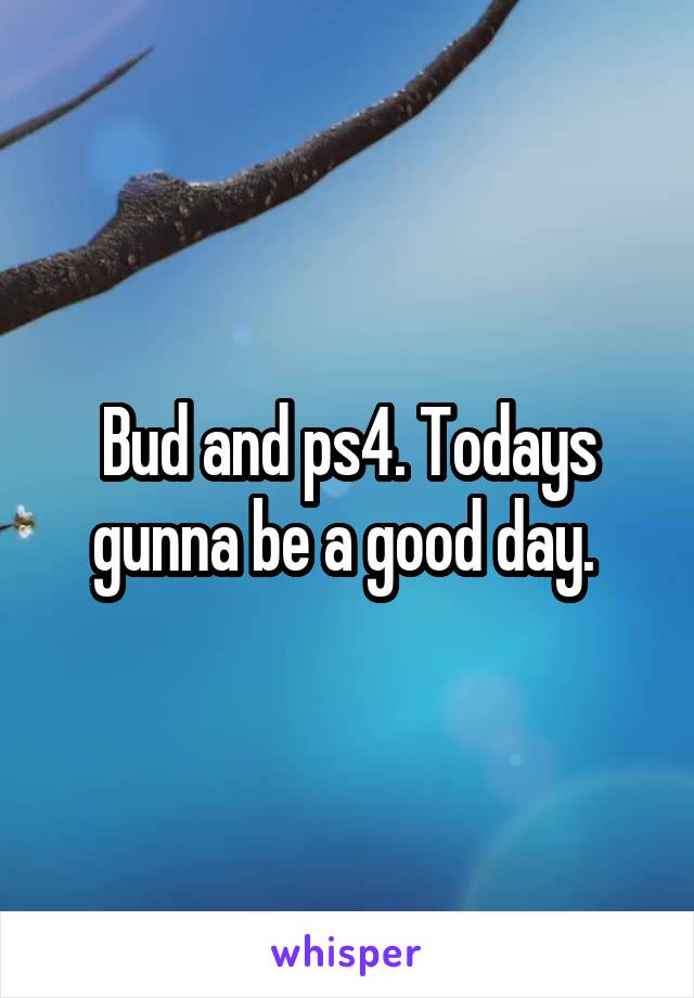 Bud and ps4. Todays gunna be a good day.