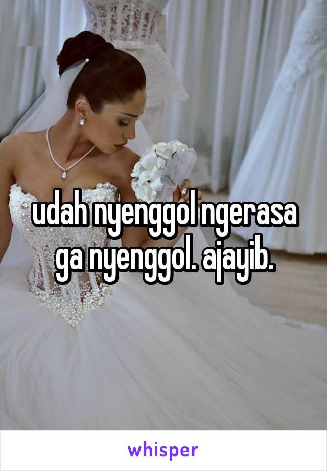 udah nyenggol ngerasa ga nyenggol. ajayib.