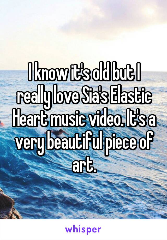 I know it's old but I really love Sia's Elastic Heart music video. It's a very beautiful piece of art.
