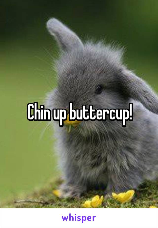 Chin up buttercup!
