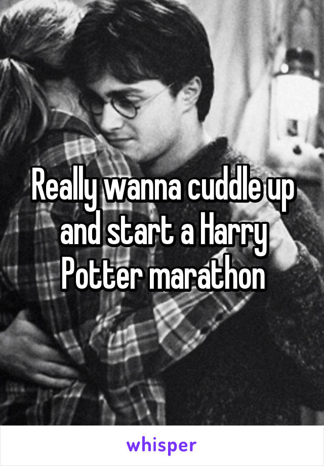 Really wanna cuddle up and start a Harry Potter marathon
