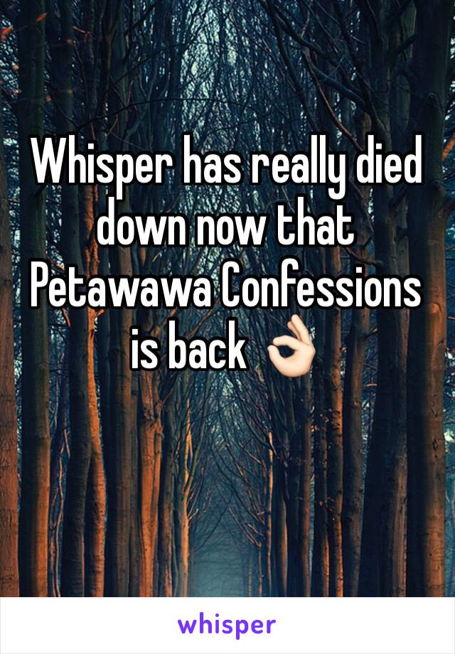 Whisper has really died down now that Petawawa Confessions is back 👌🏻