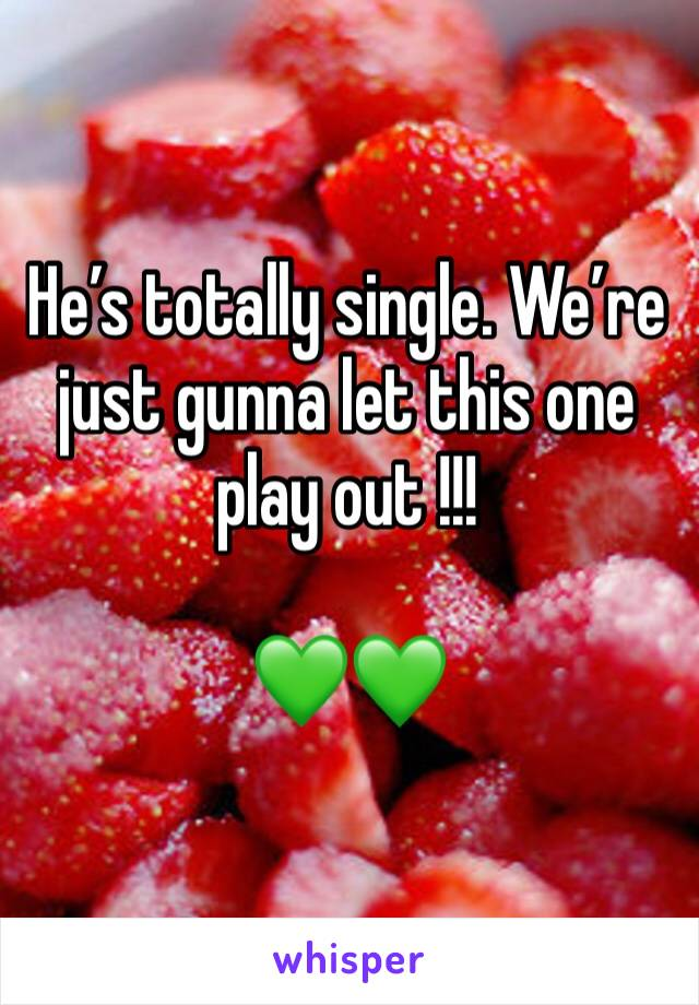 He's totally single. We're just gunna let this one play out !!!   💚💚