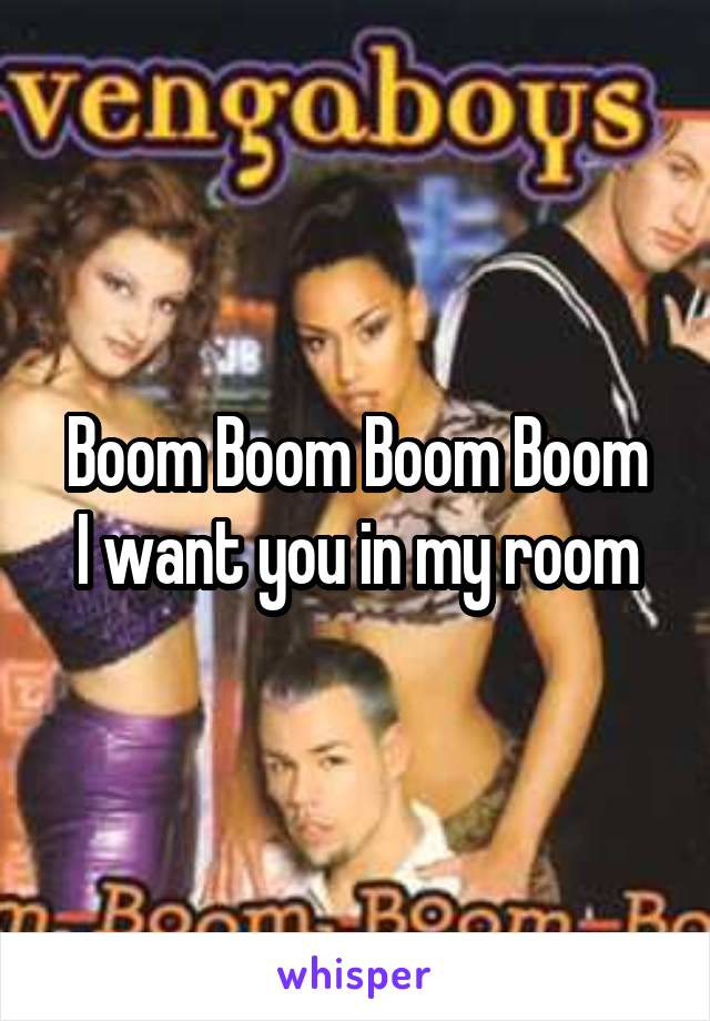 Boom Boom Boom Boom I want you in my room