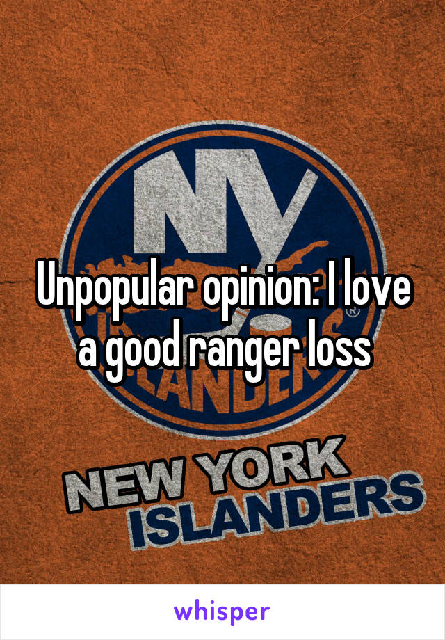 Unpopular opinion: I love a good ranger loss