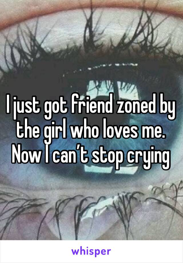 I just got friend zoned by the girl who loves me. Now I can't stop crying