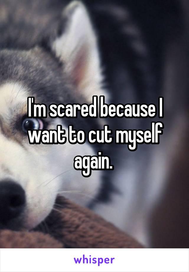 I'm scared because I want to cut myself again.