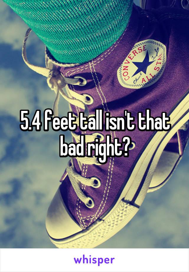 5.4 feet tall isn't that bad right?