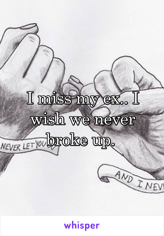 I miss my ex.. I wish we never broke up.