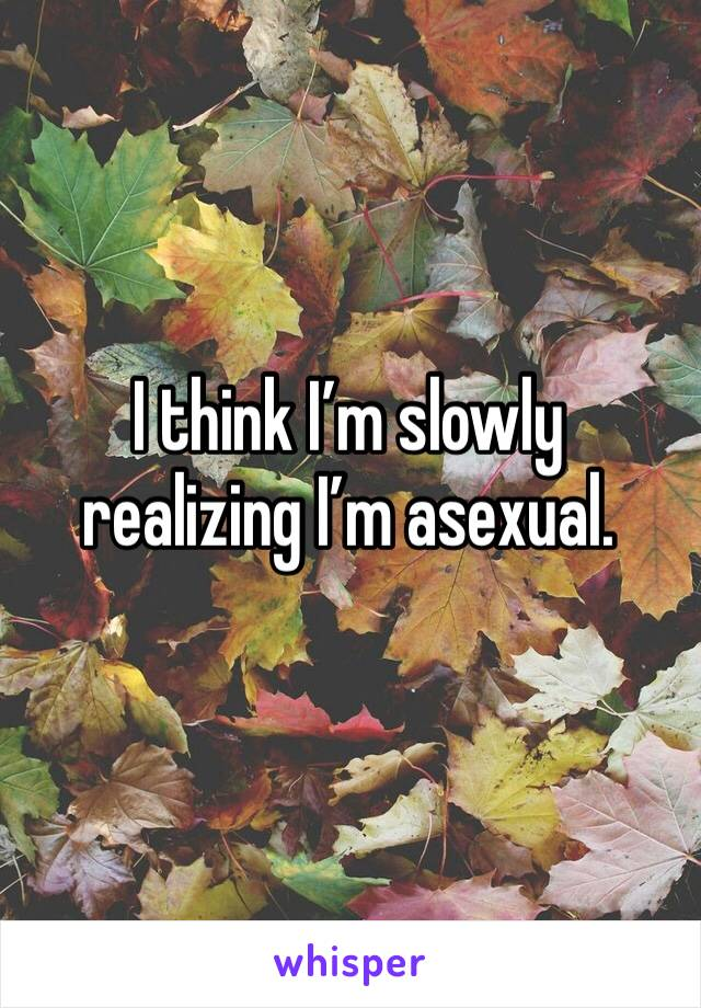I think I'm slowly realizing I'm asexual.