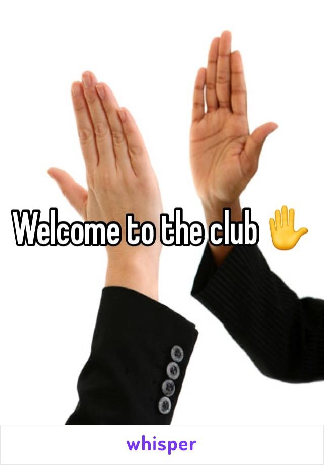 Welcome to the club ✋️