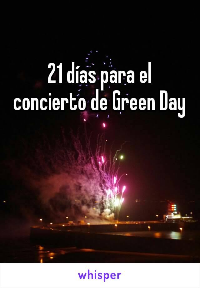 21 días para el concierto de Green Day