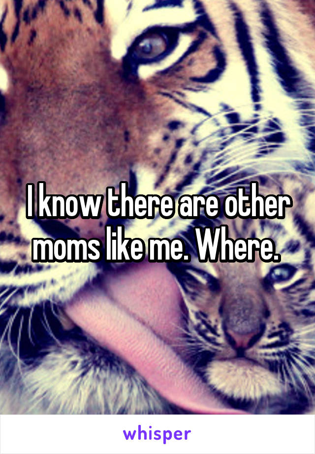 I know there are other moms like me. Where.