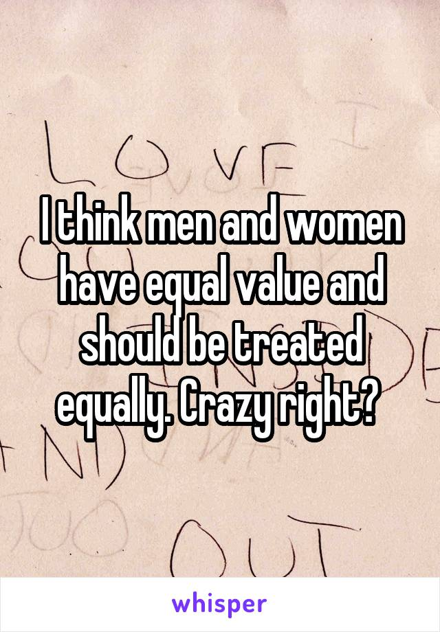 essay on men and women should be treated equally