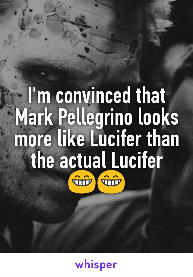 I'm convinced that Mark Pellegrino looks more like Lucifer than the actual Lucifer 😁😁