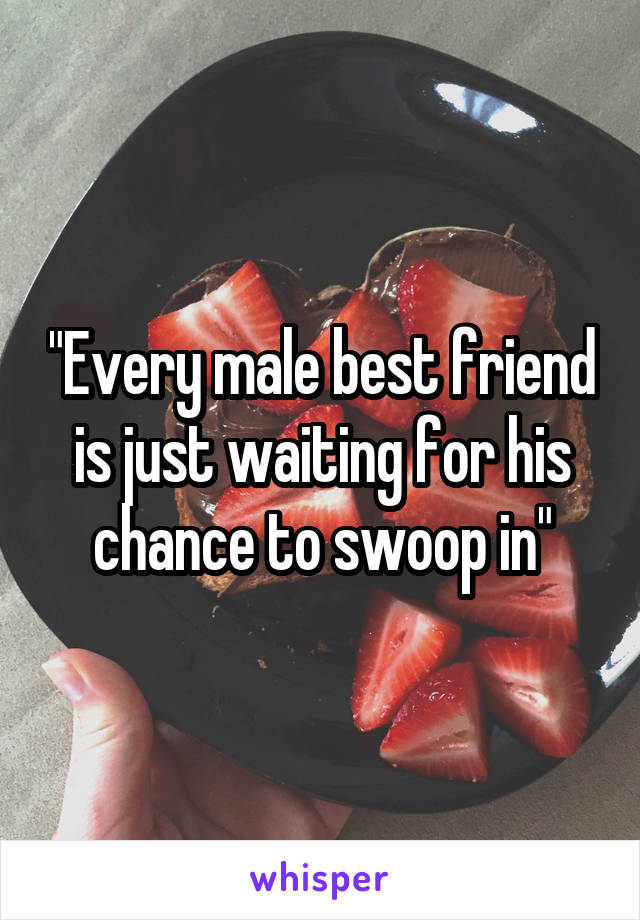 """Every male best friend is just waiting for his chance to swoop in"""