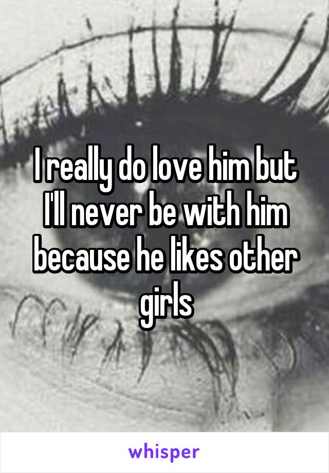 I really do love him but I'll never be with him because he likes other girls