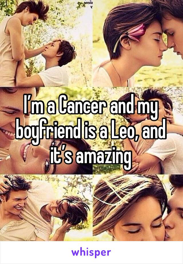 I'm a Cancer and my boyfriend is a Leo, and it's amazing