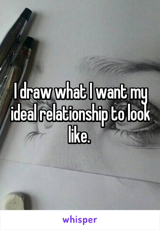 I draw what I want my ideal relationship to look like.