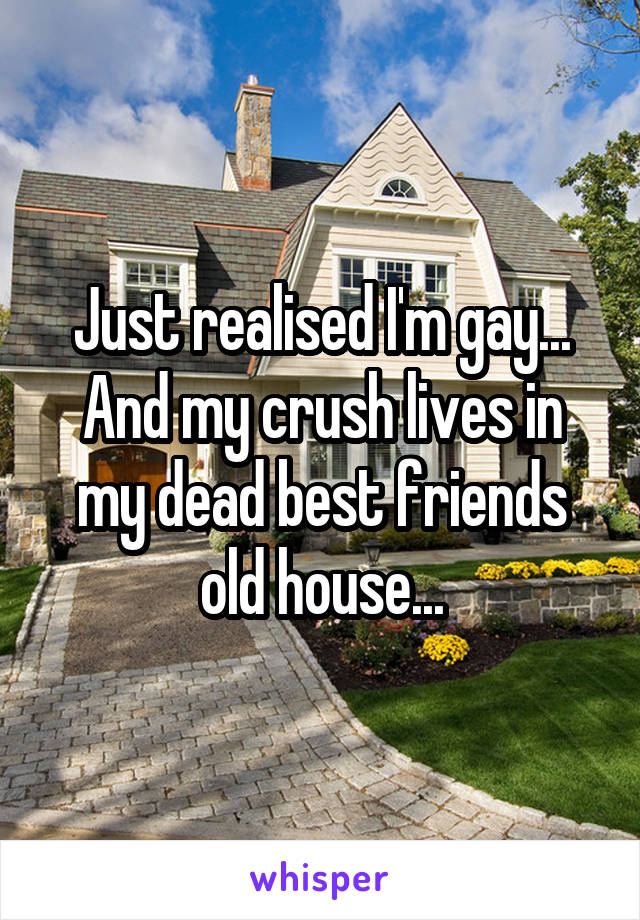 Just realised I'm gay... And my crush lives in my dead best friends old house...