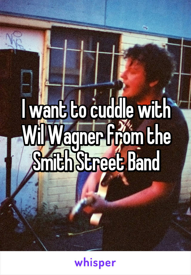 I want to cuddle with Wil Wagner from the Smith Street Band