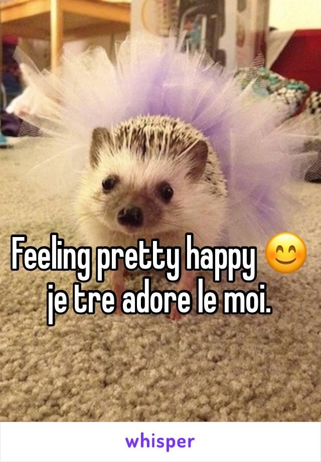 Feeling pretty happy 😊 je tre adore le moi.