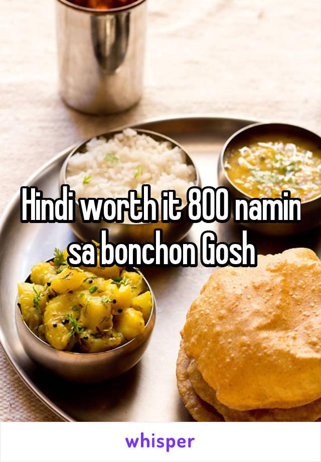 Hindi worth it 800 namin sa bonchon Gosh