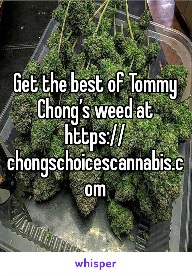 Get the best of Tommy Chong's weed at  https://chongschoicescannabis.com