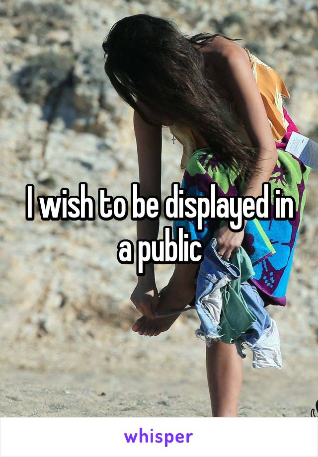 I wish to be displayed in a public