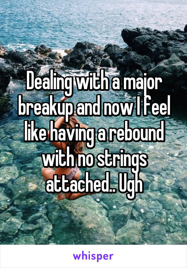 Dealing with a major breakup and now I feel like having a rebound with no strings attached.. Ugh