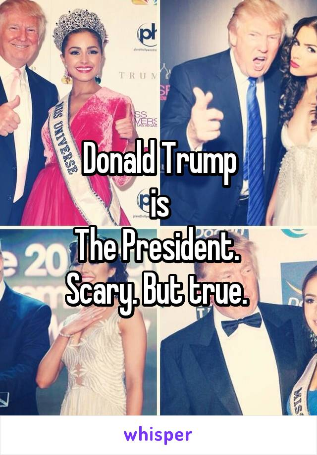 Donald Trump is The President.  Scary. But true.