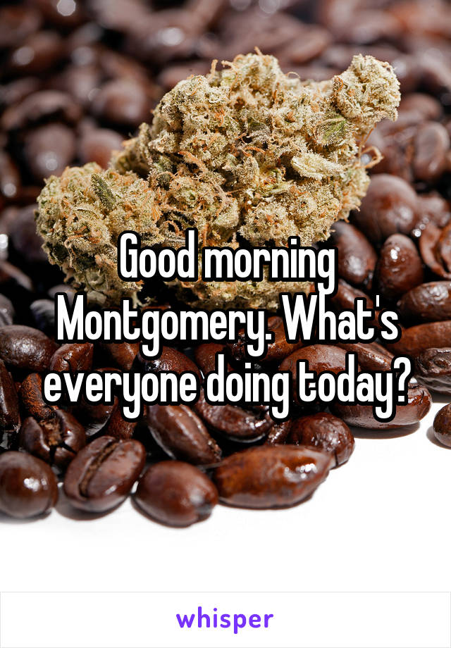 Good morning Montgomery. What's everyone doing today?