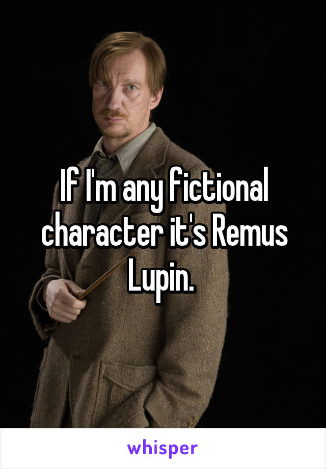 If I'm any fictional character it's Remus Lupin.