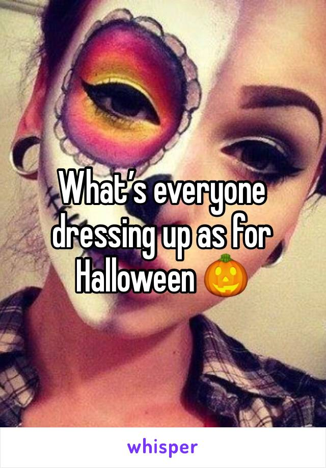 What's everyone dressing up as for Halloween 🎃